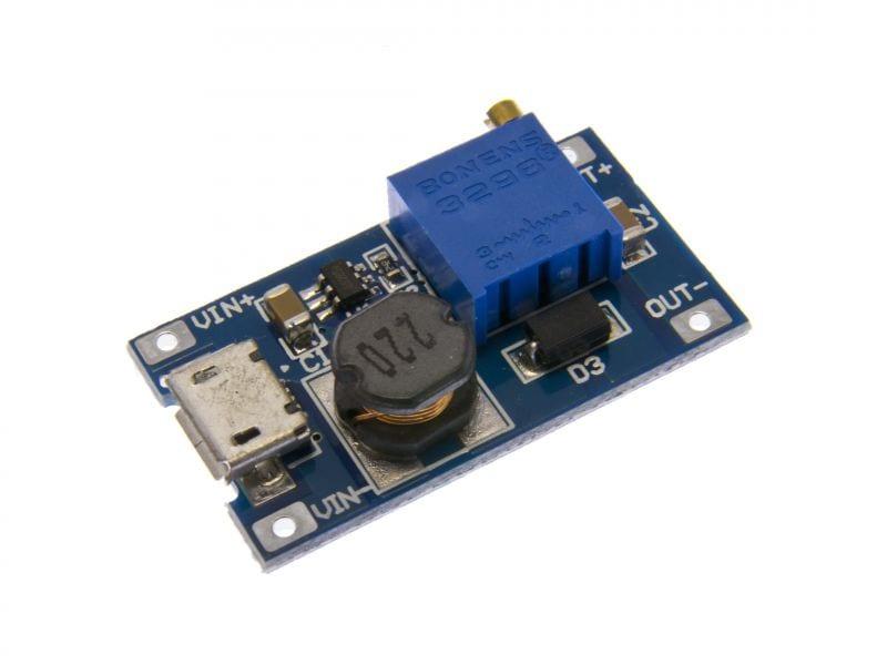 Повышающий Преобразователь MT3608 LM2577 Micro USB 2 А Трансформатор