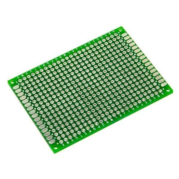 Двухсторонняя печатная плата зелёная от 20 до 80 мм